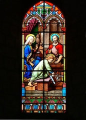 Eglise Saint-Valérien - English:   Stained glass in the nave of Saint Valerian church of Châteaudun