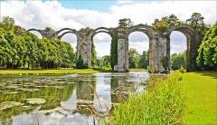 Ancien aqueduc de Pontgouin à Versailles (également sur communes de Berchères-Saint-Germain et Pontgouin) - English:   Marly Machines. Aqueduct of Maintenon.