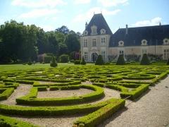 Château d'Azay-le-Ferron - English: The parterre of the French garden at the Chateau d'Azay-le-Ferron