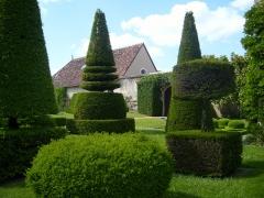 Château d'Azay-le-Ferron - English: Topiary garden of the chateau d'Azay-le-Ferron