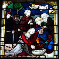 Eglise Saint-Cyr - Deutsch: Bleiglasfenster in der Kirche Saint-Cyr in Issoudun im Département Indre in der Region Centre (Frankreich)