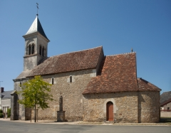 Eglise Saint-Martin de Vicq - English:   Église Saint Martin de Vic; Nohant-Vic, Indre, Centre-Val de Loire, France;; ref: PM_092631_F_Nohant_Vic;; Photographer: Paul M.R. Maeyaert; www.pmrmaeyaert.eu; © Paul M.R. Maeyaert; pmrmaeyaert@gmail.com; Cultural heritage; Europeana; Europe/France/Nohant-Vic;