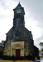 Eglise Saint-Martin de Vicq - Deutsch:   Fassade der Kirche St. Martin, Nohant-Vic, Département Indre, Region Zentrum-Loiretal, Frankreich