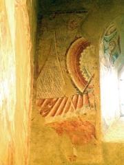 Eglise Saint-Martin de Vicq - Français:   L\'ange Michel terrassant le dragon