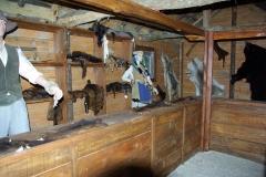 Château - Français:   Reconstitution d\'un poste de traite des fourrures en Nouvelle-France au XVIIe siècle (parc du château de Palluau-Frontenac).