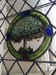 Château Gaillard - Français:   Vitrail de Château Gaillard Amboise figurant les orangers