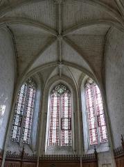 Château des Brétignolles - Français:   Choeur de la chapelle gothique seigneuriale (1507) du château des Brétignolles.