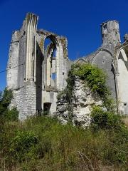 Ruines du château et de la collégiale des Roches-Tranchelion - Collégiale Sainte-Marie et Saint-Jean-Baptiste des Roches-Tranchelion en Avon-les-Roches (37). Croisillon sud.