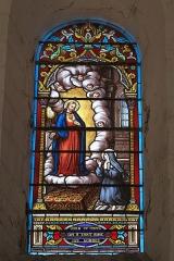 Eglise Notre-Dame - Deutsch:   Katholische Pfarrkirche Notre-Dame in La Celle-Guenand im Département Indre-et-Loire (Centre-Val de Loire/Frankreich), Bleiglasfenster: Darstellung: Herz Jesu und Marguerite-Marie Alacoque