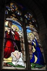 Eglise Notre-Dame - Deutsch:   Katholische Pfarrkirche Notre-Dame in La Celle-Guenand im Département Indre-et-Loire (Centre-Val de Loire/Frankreich), Bleiglasfenster: Darstellung: Geburt Christi