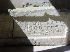 Ancienne chartreuse du Liget - Français:   Première pierre des travaux de 1787 à la chartreuse