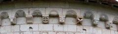 Ancienne chartreuse du Liget - Français:   détail des modillons de la chapelle