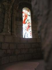 Ancien prieuré de Saint-Cosme - Deutsch: Fenster von Zao Wou-Ki im romanischen Refektorium  der Prieuré de Saint-Cosme
