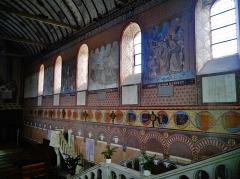 Eglise Notre-Dame - Deutsch:   eine Wand im Langhaus der Kirche Unserer Lieben Frau, Rivière, Département Indre-et-Loire, Region Zentrum-Loiretal, Frankreich