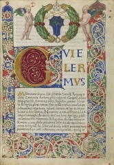 Maison du 16e siècle - English: Manuscript [after 1475] of Epistola ad heremitas Sancti Augustini by Guillaume d'Estouteville (ca. 1412-1483). MS Richardson 28, Houghton Library, Harvard University