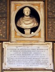 Maison du 16e siècle - Deutsch:   Sant\'Agostino (Rom); Gedenktafel für Kardinal d\'Estouteville