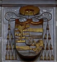 Maison du 16e siècle - Deutsch:   Sant\'Agostino (Rom), Wappen des Kardinals Guillaume d\'Estouteville