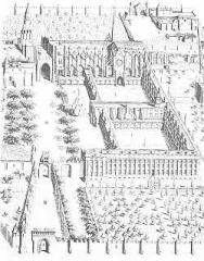 Ancienne abbaye de Marmoutier - English: Plan de l'ancienne abbaye de Marmoutier (Tours)