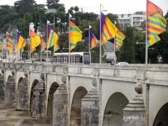 Grand Pont, dit Pont de pierre ou Pont Wilson - Nederlands: Tram  op de Pont Wilson in Tours.
