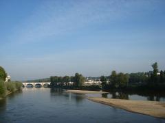 Grand Pont, dit Pont de pierre ou Pont Wilson -  La Loire à Tours vers l'aval