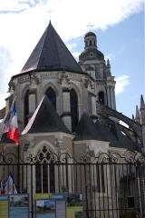 Cathédrale Saint-Louis - Cathédrale Saint-Louis de Blois (Loir-et-Cher, France), vue de derrière