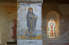 Eglise Saint-Genest - Lavardin (Loir-et-Cher)  Eglise Saint-Genest.   Fresque du XVe siècle représentant saint-Antoine.