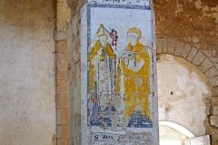 Eglise Saint-Genest - Lavardin (Loir-et-Cher)  Eglise Saint-Genest.   Fresque du XVe siècle. Saint-Genest et Saint-Liboire.