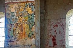 Eglise Saint-Genest - Lavardin (Loir-et-Cher)  Eglise Saint-Genest.   Fresque du XVIe siècle. La lapidation de Saint-Etienne.