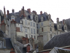 Château - English: Saint Aignan, dominated by its castle