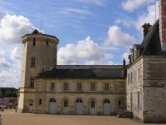 Château - Deutsch: Ein Flügel des Schlosses Saint-Aignan-sur-Cher