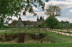 Domaine du château de Talcy - Deutsch: Schloss Talcy (Loir-et-Cher) von Norden gesehen