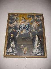 Eglise Notre-Dame - Église Notre-Dame de Bellegarde (Loiret, France): donation du Rosaire aux saints Dominique et Catherine de Sienne