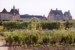Château de la Bussière, actuellement musée de la Pêche -  France Loiret La Bussière Le potager  Photographie prise par GIRAUD Patrick