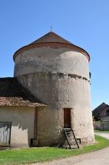 Château de la Bussière, actuellement musée de la Pêche - Deutsch: Schloss La Bussière, Taubenturm