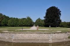 Château de la Bussière, actuellement musée de la Pêche - Deutsch: Schloss La Bussière, Reste des französischen Gartens