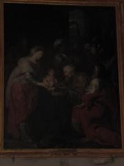 Eglise Saint-Etienne - English: Presentation, from Laurent de La Hyle. Painting classed as Historical piece. In Saint-Étienne church, Château-Renard, Loiret.