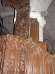Eglise Saint-Etienne - Français:   Chaire église Saint-Étienne, Château-Renard