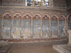 Eglise Saint-Etienne - English: Château-Renard, Saint-Étienne church. Collateral chapel, north transept, north wall.