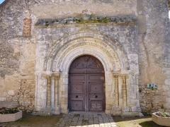 Eglise Notre-Dame et Saint-Blaise - English:   Montbouy, Loiret, Centre region, France. Notre-Dame et Saint-Blaise church, porch.
