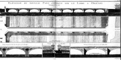 Pont George V -  Pont George V, élévation de l'ouvrage, Orléans, Loiret, France