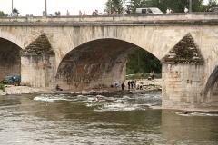 Pont George V -  Slalom kayak à Orléans en septembre 2013