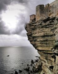 Citadelle - Français:   Bonifacio, Extrême-Sud (Corse) - La citadelle dans sa partie N-E
