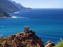 Tour génoise de Porto -  Ota (Corsica) - Littoral sud du golfe de Porto