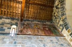 Eglise de la Sainte-Trinité - English: les 4 docteurs de l'èglise, St Augustin, Gregoire, Jerome et Ambroise, tenant une bible sur leurs genoux. (1458) oeuvre classée