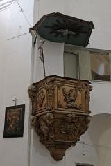 Eglise Saint-Jean-Baptiste - Nederlands:   Preekstoel in de voormalige kathedraal van Calvi