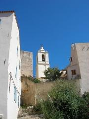 Eglise Saint-Jean-Baptiste - Français:   Clocher dans la citadelle de Calvi (Haute-Corse, France).
