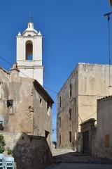 Eglise Saint-Jean-Baptiste - English:   The narrow street around the Pro-cathédrale Saint-Jean-Baptiste de Calvi are cobblestone paved.