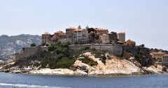 Remparts de la citadelle et Tour du Sel -  Calvi from the Sea