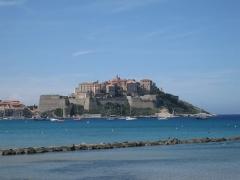 Remparts de la citadelle et Tour du Sel - Deutsch: Zitadelle von Calvi (Korsika - Corse, France)