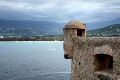Remparts de la citadelle et Tour du Sel -  Calvi, Balagne (Corse) - Échauguette Sud-est de la citadelle